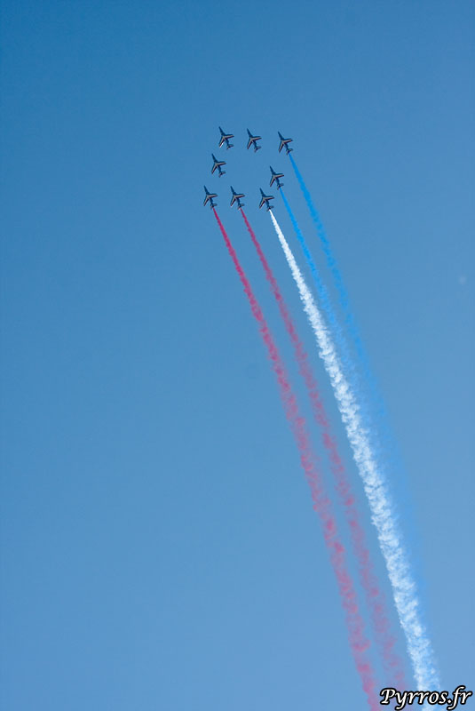 Patrouille de France (PAF) vol en losange