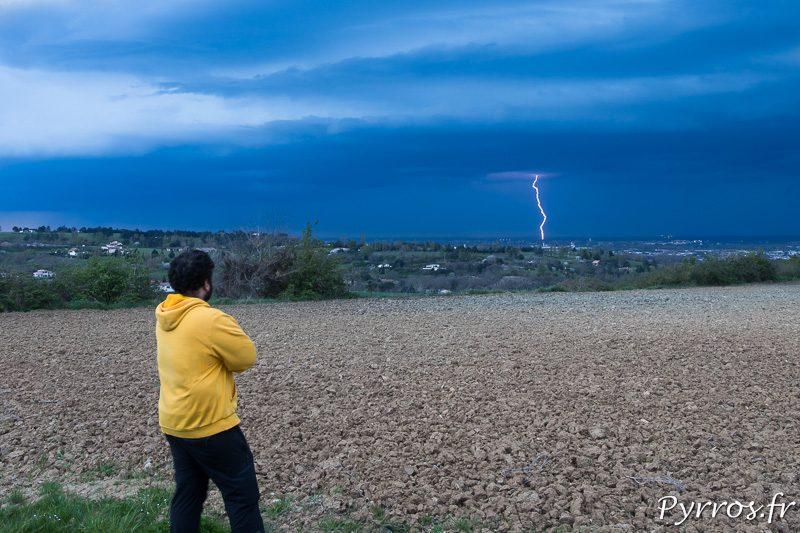 Loic TRIPIER sous l'orage Autoportrait Pyrros.fr