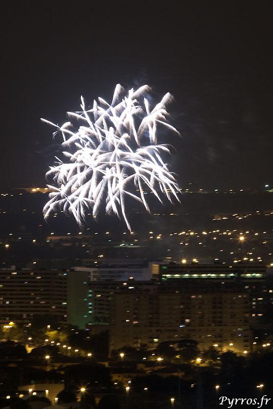 feu d'artifice 13 juillet 2009 au lac de la Reynerie