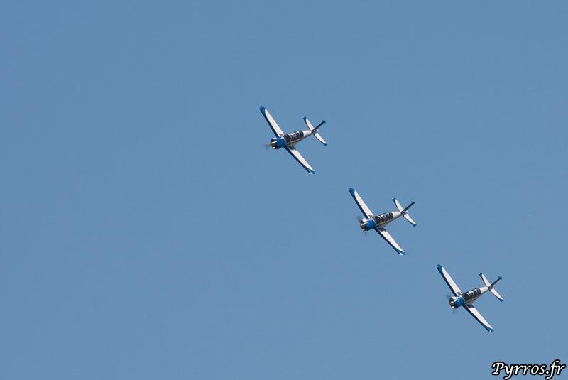 TB30 Epsilon Cartouche doré vol en formation