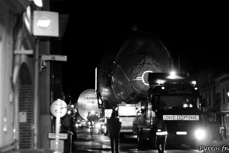 quand le géant des airs prend la route, fuselage avant