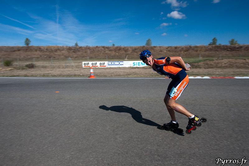 Yannick ancien Toulousain roule sous les couleurs de Mérignac, il termine 2eme de sa categorie