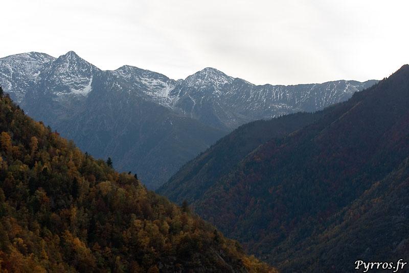 la Vallée du Vicdessos depuis Montreal de Sos en direction du Montcalm