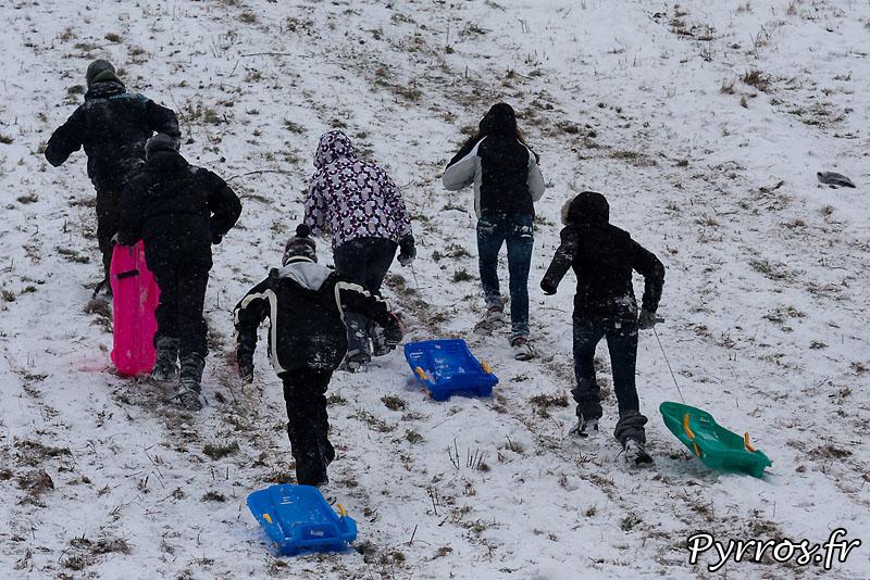 Neige à Toulouse, Pech David se transforme en piste de luge