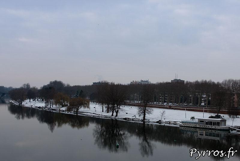 Neige à Toulouse, Prairie de Filtres sous la neige.