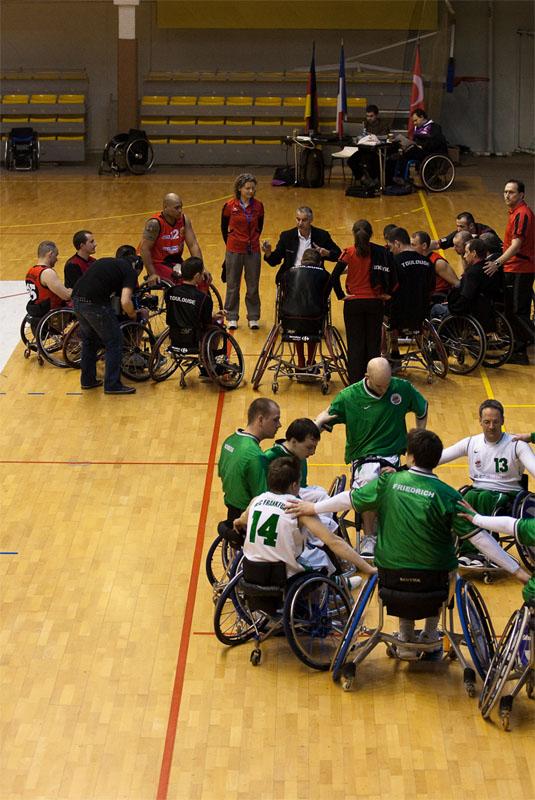 Euro Ligue 2 (handibasket) Tour préliminaire Toulouse IC vs RSC Frankfurt (Allemagne), Toulouse s'impose 66 à 59, Briefing d'avant match