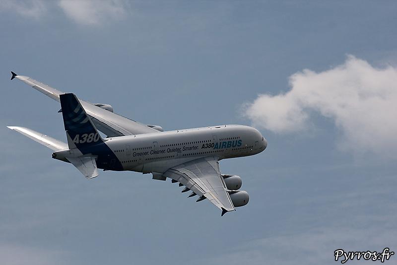Airbus A380, Virage dans le ciel muretain, volés sortis