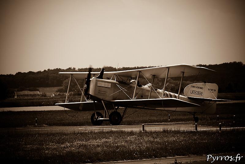 le dernier Breguet XIV encore actif, cet avion etait utilisé dans l'aéropostale par de celèbres pilotes comme Mermoz, Daurat, Saint Exupéry et autres Guillaumet.
