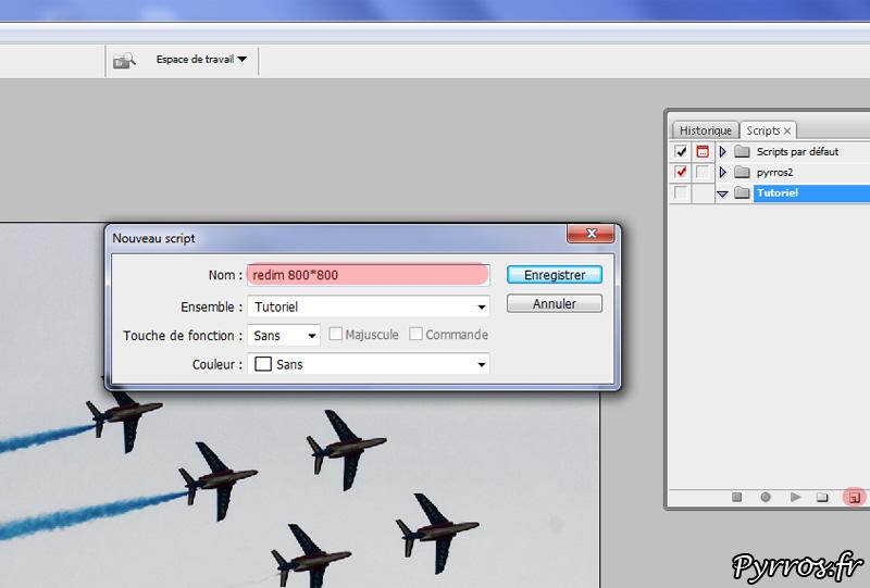 Créer un script de redimensionnement de photos sur photoshop : étape 1