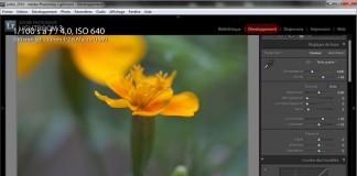 En mode développement, pour post traiter ses photos