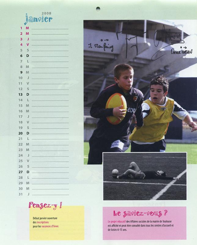 Janvier du calendrier Coupe du monde de Rugby 2007