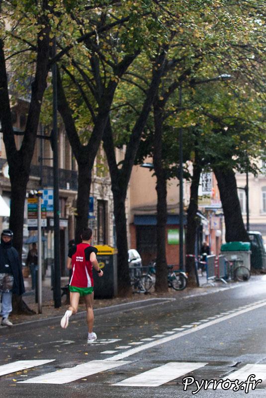 Dernier kilometre du quatrieme marathon du Grand Toulouse