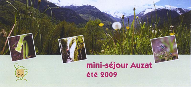 Plaquette d'invitation pour le diaporama séjours été 2009