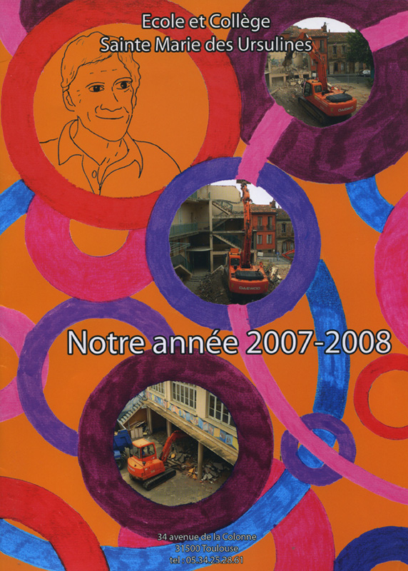 Couverture livre de l'Année de Sainte Marie de Ursulines (2007/2008)
