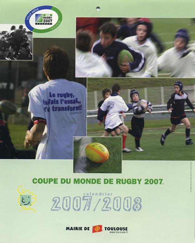 Couverture calendrier Coupe du monde de Rugby 2007