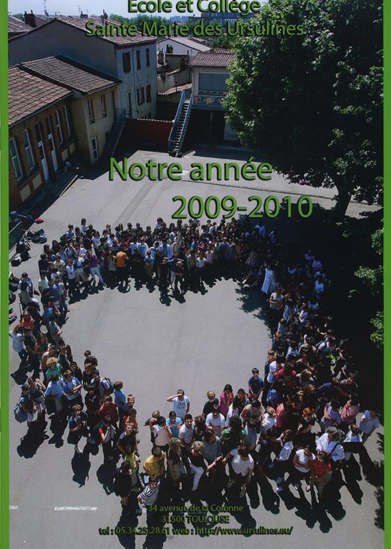 Couverture livre de l'Année de Sainte Marie de Ursulines (2009/2010)