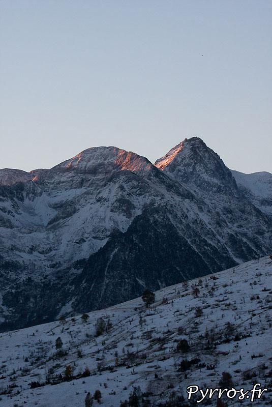 Premieres neiges, automne 2010, montagne sous la neige