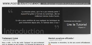 Ouverture du site http://www.post-traitement.com/