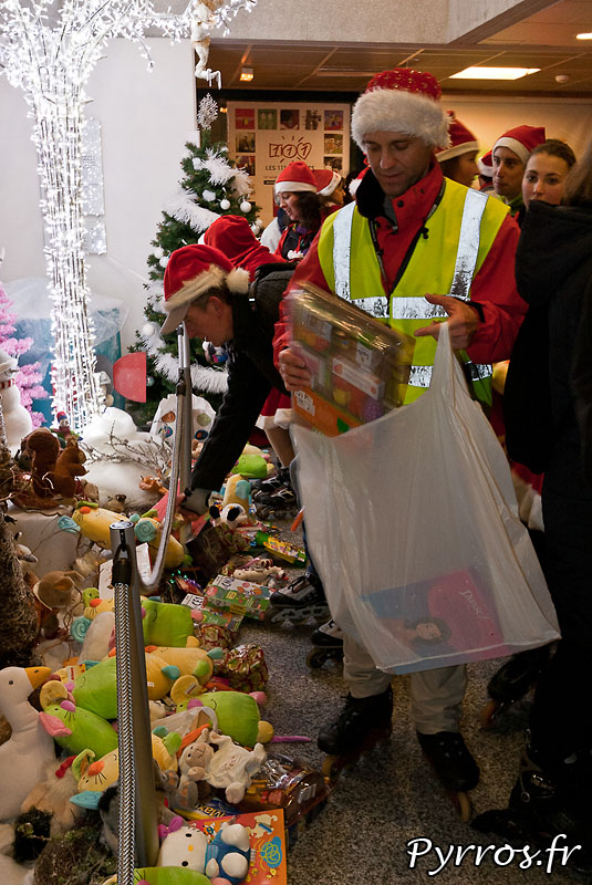 Les staffeurs aussi ont porté des cadeaux