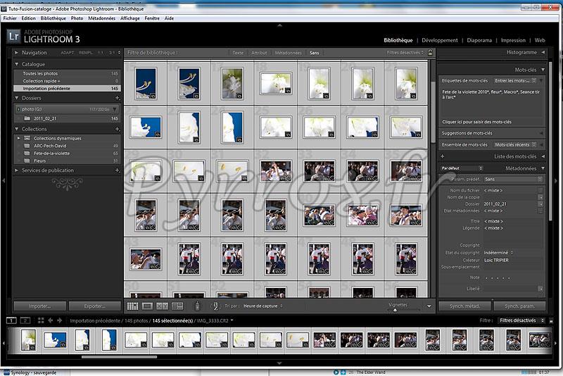 Selectionner les photos à transferer