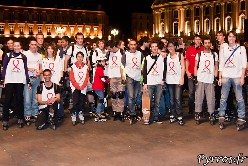 Sidaction 2011, Rando roller de Roulez Rose