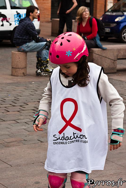 Comme chaque année Roulez Rose participe au sidaction en organisant une rando roller de sensibilisation