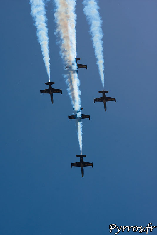 Breitling Jet Team, formation Windrider