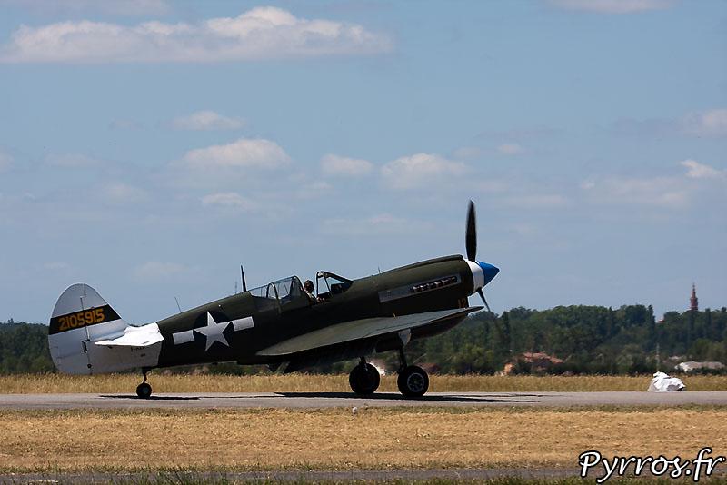 Curtiss P-40 Warhawk, atterrissage