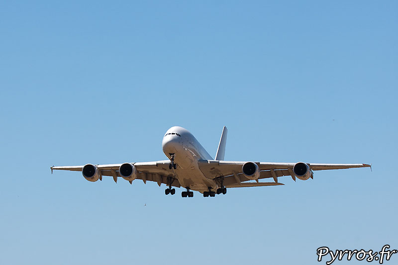 Airbus 380 F-WWDD dit Dédé, configuration d'approche
