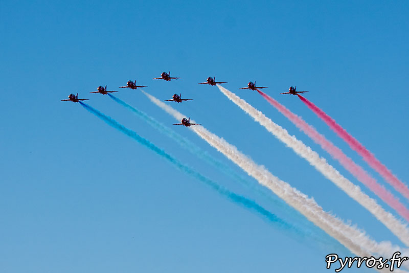 Red Arrows, Formation arrow (flèche)