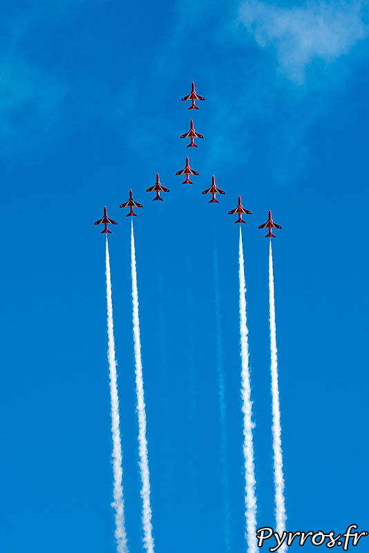 Red Arrows, formation Swan