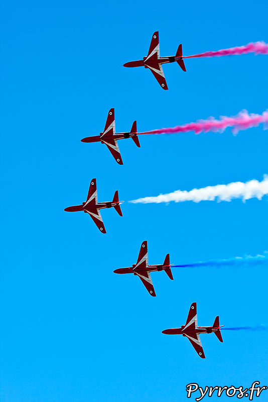 Red Arrows, formation à 5 avions