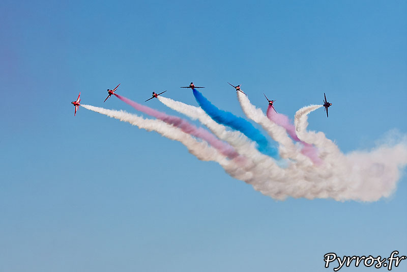 Red Arrows, Vixen break (Éclatement final)