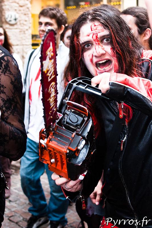 Tronçonneuse de zombies
