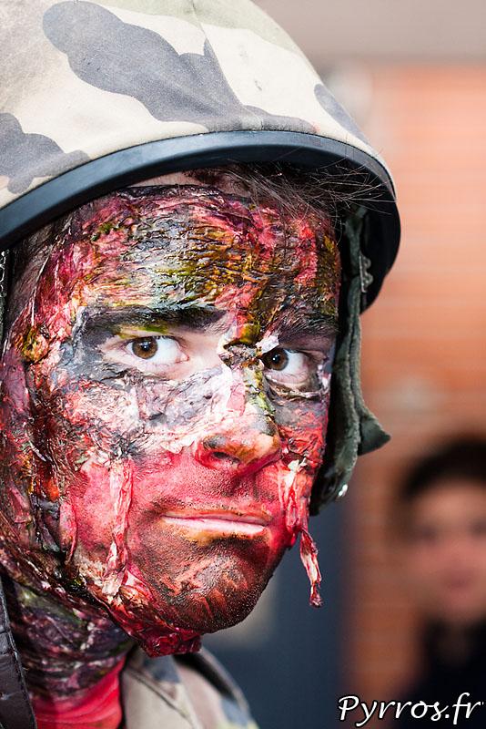 Portrait de zombie militaire