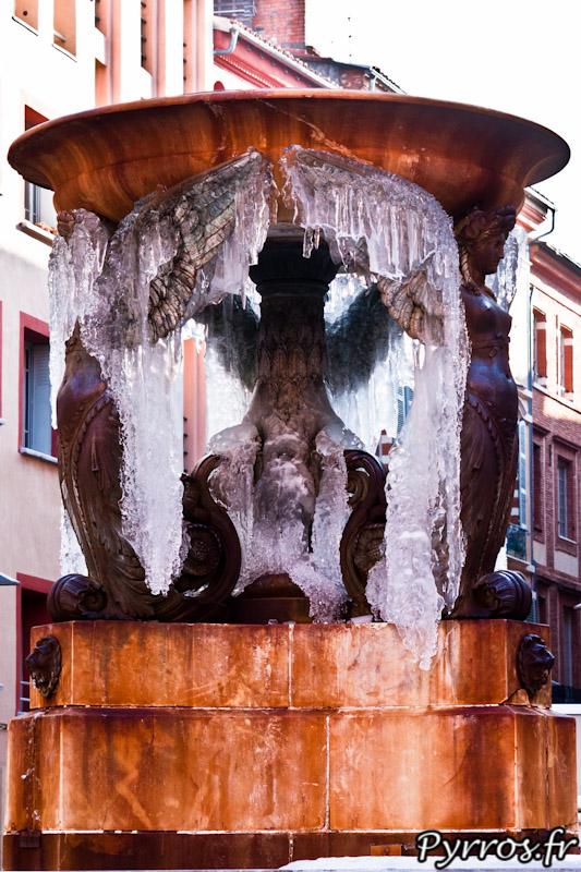 A Toulouse c'est l'une des rares fontaines qui se fait saisir par le froid
