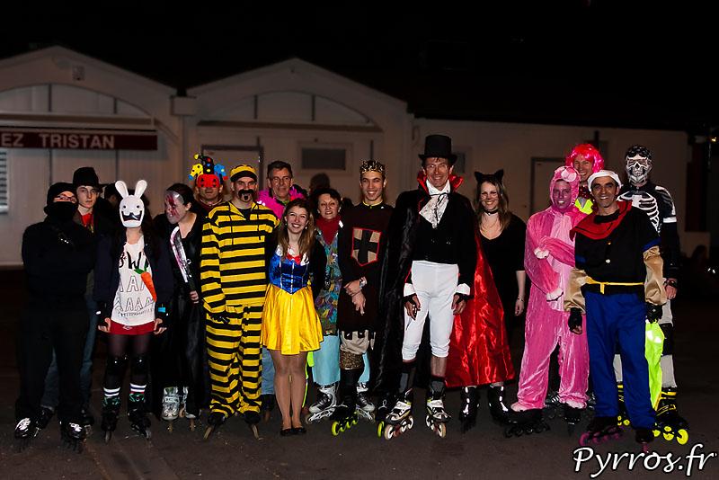 Peu de participants mais une grande diversité dans le choix des costumes pour le Carnaval de Roulez Rose