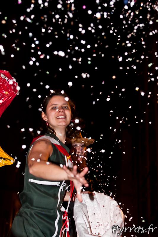 Carnaval de Toulouse 2012 sous une pluie de confettis