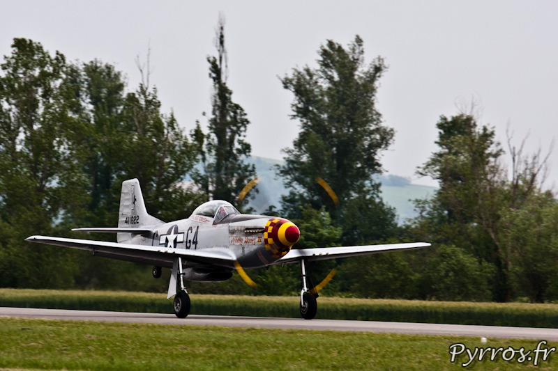 P-51 Mustang décollage, Airexpo 2012