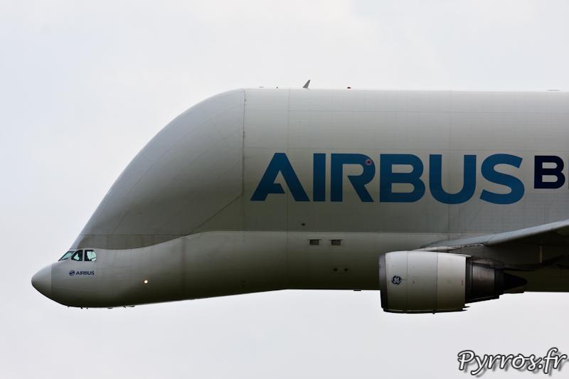 Gros plan cockpit et porte de soute, Airbus A300-600ST Bélouga, Airexpo 2012