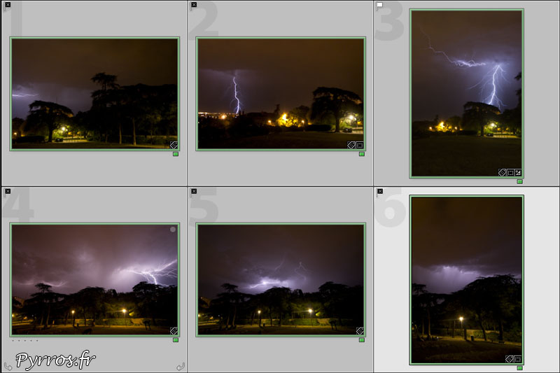 Comment photographier les orages, les résultats sont parfois aléatoires