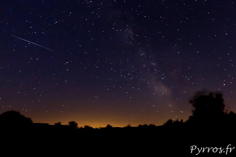 Ciel d'été, étoiles filantes et voie lactée à La Pouzaque