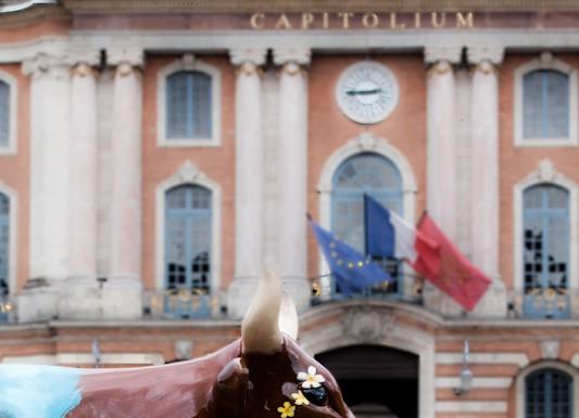 CowParade à Toulouse les vaches s'exposent place du Capitole