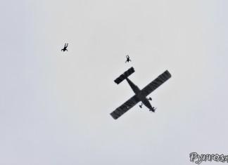 Gimont Aéro, Equipe de Parachutistes de Présentation et de Compétition de l'Armée de l'Air, saut depuis le Pilatus