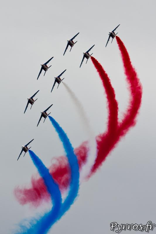 Patrouille de France, Le ruban, formation canard