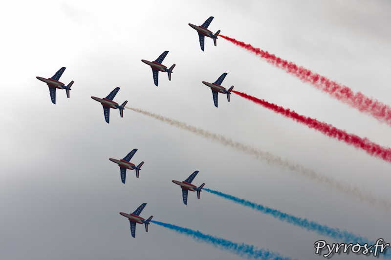 Patrouille de France, Le ruban, formation concorde