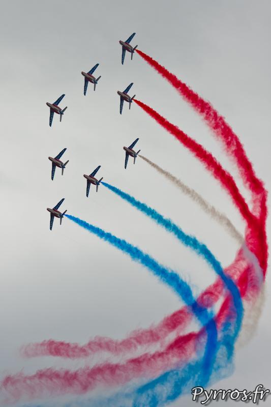 Patrouille de France, Le ruban, formation losange