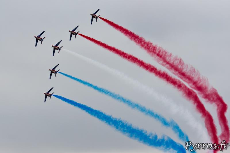 Patrouille de France dans le ciel de Gimont (32)
