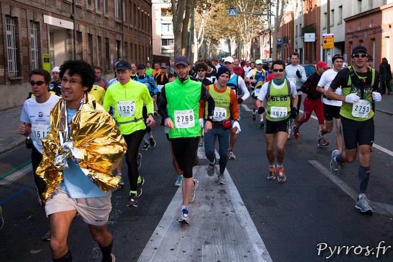 Marathon International de Toulouse Métropole, tout est bon pour se réchauffer