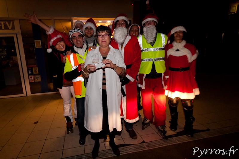 Randonnée roller organisée par Roulez Rose, chaque patineur doit apporter un cadeau pour les enfants hospitalises à Purpan